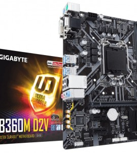 [New] Main Gigabyte GA-B360M-D2V (Chipset Intel B360/ Socket LGA1151/ VGA onboard)